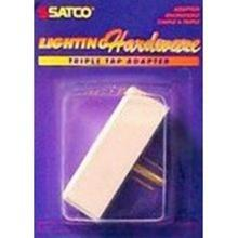 Satco Products Inc. S70/546 - Triple tap adaptor; Polarized; Ivory; Carded