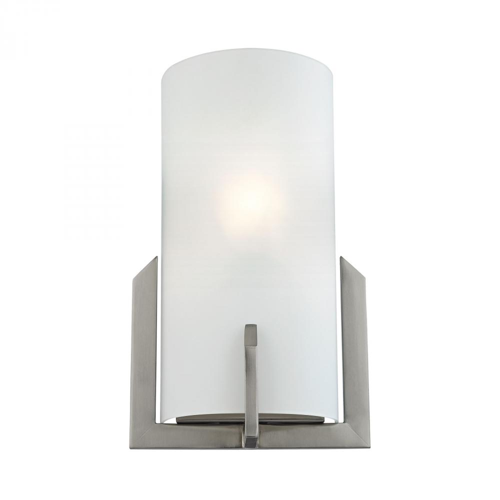 Wall Sconces 1 Light Sconce In Brushed Nickel An
