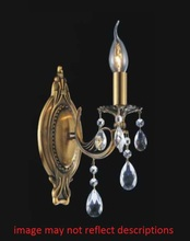 Crystal World 2050W5AB-1 - 1 Light Antique Brass Wall Light from our Brass collection
