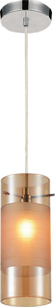 Crystal World 5658P5C (Cognac) - 1 Light  Mini Chandelier with Transparent Cognac finish