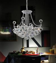 Crystal World 8041P12C-S - 4 Light  Mini Chandelier with Chrome finish