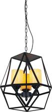Crystal World 9621P12-3-101 - 3 Light Candle Mini Pendant with Black finish