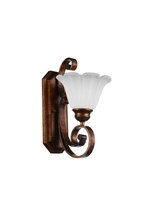 Crystal World 9822W8-1-124 - 1 Light Antique Gold Wall Light from our Victoria collection