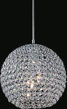 Crystal World QS8351P10C - 1 Light  Mini Chandelier with Chrome finish
