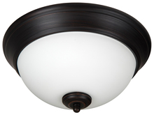 "Jeremiah XP11ABZ-2W - Pro Builder 2 Light 11"" Flushmount in Aged Bronze Brushed"
