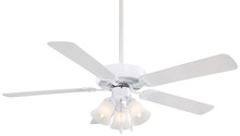Minka-Aire F647-WH - One Light White Ceiling Fan