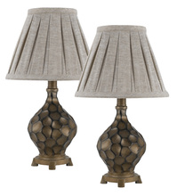 "CAL Lighting BO-2345AC/2 - Set Of 17.00"" Height Resin Accent Lamps In Iron Finish"