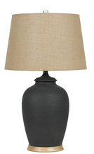 "CAL Lighting BO-2678TB-2 - 28.5"" Height Ceramic Table Lamp In Charcoal"