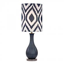 Dimond D2517 - Navy Blue Textured Ceramic Accent Lamp With Printed Shade
